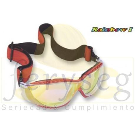 Gafas con espuma y banda elástica Rainbow Zubiola