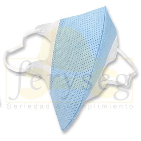 Mascarilla Sencilla Azul/Banco