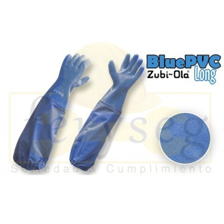"Guantes Semicorrugados ""BluePVC Long"""