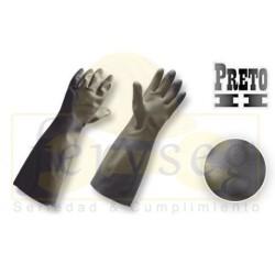 Guantes Industriales Negros Extra-Largo 18 Preto II