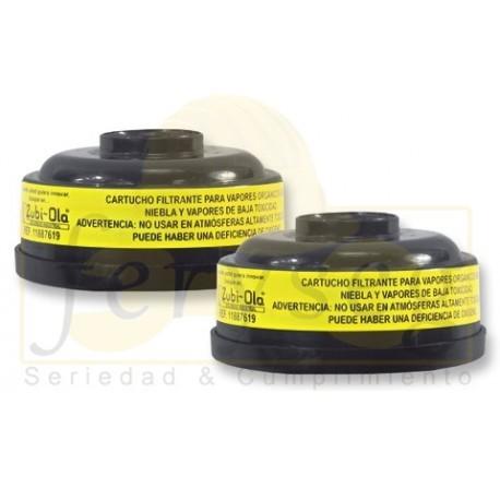 Cartucho Filtrante/ Vapores de baja toxicidad