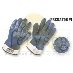 """Guantes Nitrilo Completo Dip Semi-corrugado, """"Predator VI"""""""