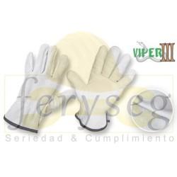 "Guantes de vaqueta y carnaza - ""Viper III"""