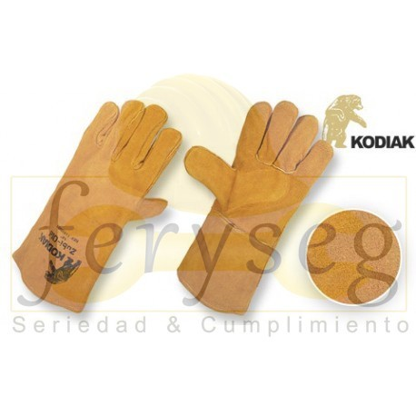 """Guantes Carnaza - Forrado para Soldar - """"Kodiak"""""""