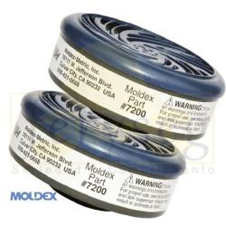 Cartucho 7200 Moldex gases ácidos.