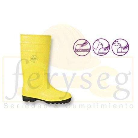 Botas en PVC Color Amarillo