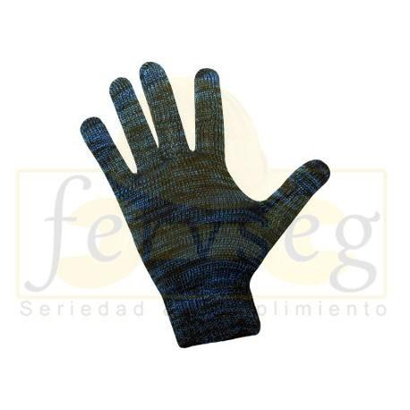 Guante Poliéster Jaspeado Azul