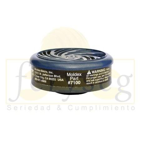 Cartucho 7100 Moldex vapores orgánicos.