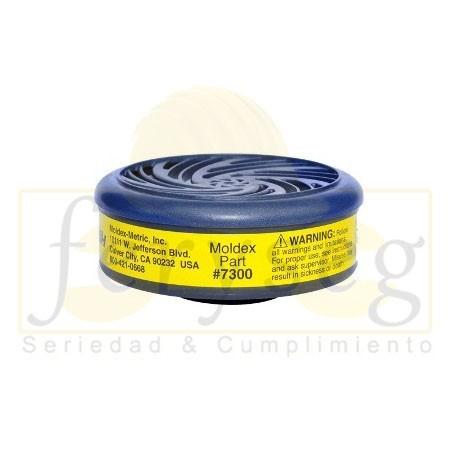 Cartucho 7300 Moldex gases y vapores