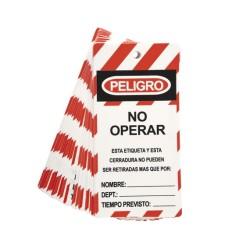 Tarjeta no operar pack (25 Unidades) STEELPRO.