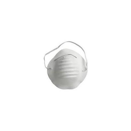 Mascarilla conica desechable blanca.