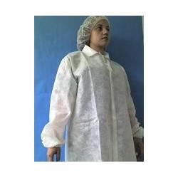 Blusa en tela desechable - blanca.